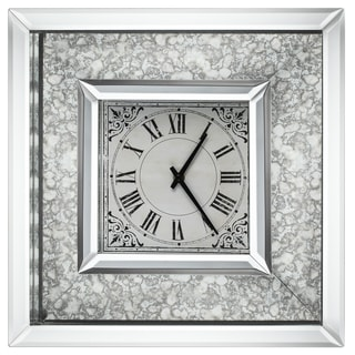 Astrid 16-inch x 16-inch Mirrored-frame Wall Clock