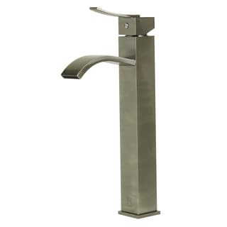 ALFI AB1158 Tall Brushed Nickel Single Lever Bathroom Faucet