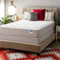 Spring Air Value Collection Tamarisk Full-size Plush Mattress Set - Brown/Beige
