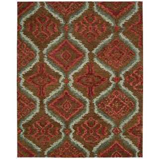 Nourison Tahoe Modern Brown/Red Rug (9'9 x 13'9)