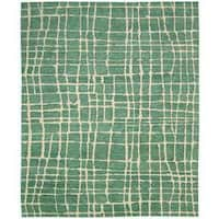 Nourison Tahoe Modern Turquoise/Green Rug (9'9 x 13'9)
