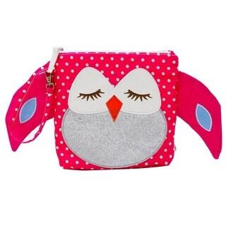 Nikiani Stella Pink Polka Dot Owl Snack Bag