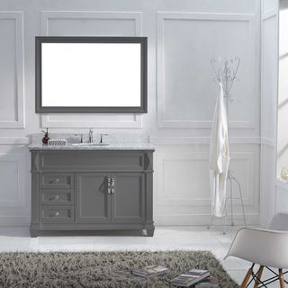 Virtu USA Victoria 48-inch Grey Single Bathroom Vanity Set