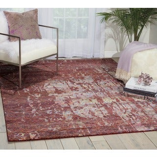 Nourison Silk Shadows Wine Rug (9'9 x 13'9)