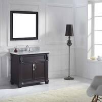 Virtu USA Victoria 36-inch Italian Carrara White Marble Single Bathroom Vanity Set with Faucet