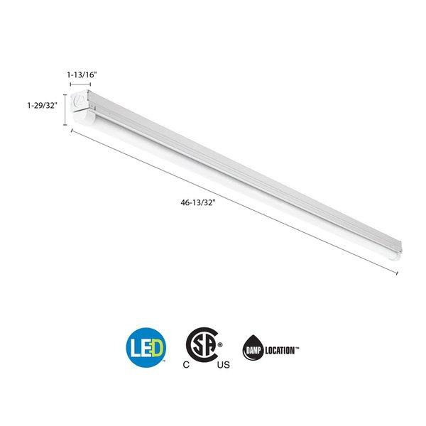 Lithonia Lighting 4 Ft 40 Watt White Integrated Led: Lithonia Lighting FMFL 30840 CAML WH LED 4 Ft. White
