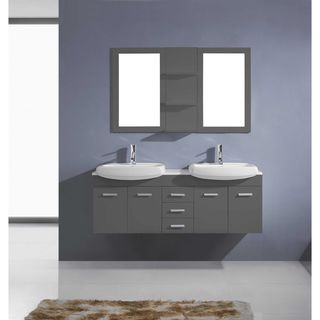 Virtu USA Ophelia 59-inch Double Bathroom Vanity Set