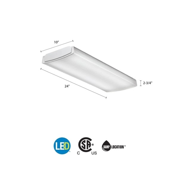 Noma Led Shop Light Review: Shop Lithonia Lighting FMLL 9 30840 4 Ft. 4000K LED Low