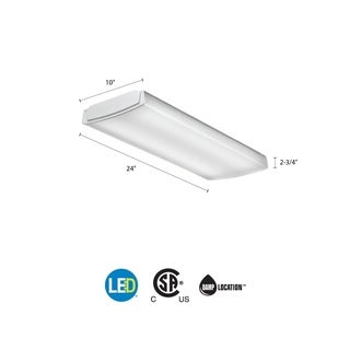 Lithonia Lighting FMLL 9 30840 4 ft. 4000K LED Low Profile Lightpuff with White Acrylic Diffuser