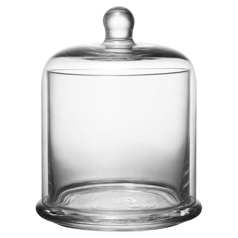 Kingston Clear Glass 5-inch x 6-inch Lidded Canister