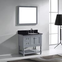 Virtu USA Julianna  36-inch Grey Single Bathroom Vanity Set
