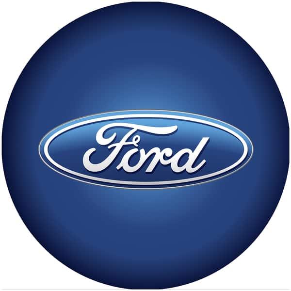 Trademark Gameroom Ford Chrome Ribbed bar Stool Ford Oval Logo