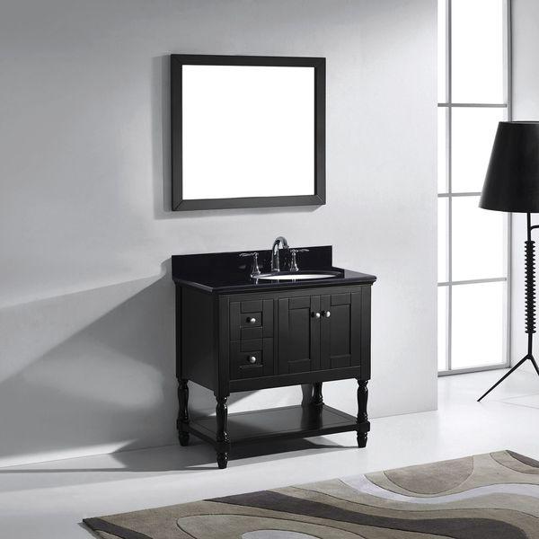 Shop virtu usa julianna 36 inch espresso single bathroom vanity set on sale free shipping for 36 inch espresso bathroom vanity