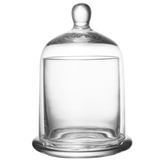 Kingston Clear Glass 4-inch x 6-inch Small Lidded Canister