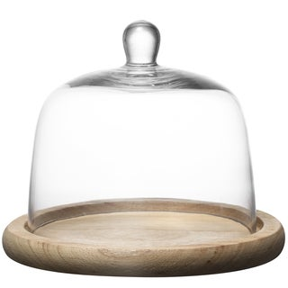 Wood and Kingston Glass Domed Cake Plate
