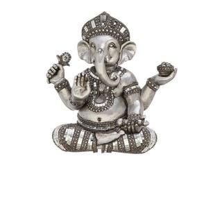 Silver PS 11-inch x 6-inch x 16-inch Shelf Ganesha