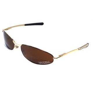 Vecceli Italy Unisex 'V-01-Brown' Sunglasses