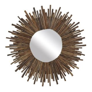 Crafted Home's Sandra Twig Round Mirror