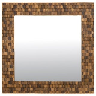 Crafted Home's Dominic Square Wood Mosaic Mirror