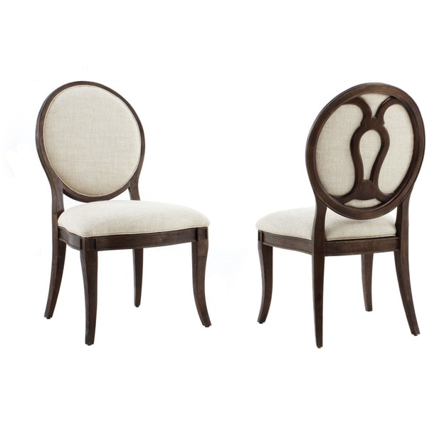 oval back dining chair Shop A.R.T. Furniture St. Germain Oval Back Dining Chair (Set of 2  oval back dining chair