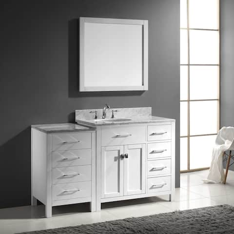 Virtu USA Caroline Parkway 57-inch Single Bathroom Vanity Set with Right Mounted Drawers