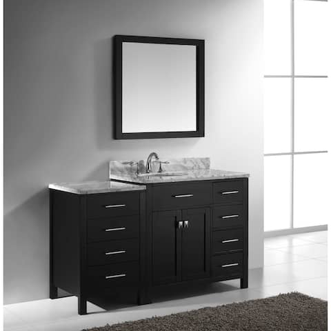 Caroline Parkway 57 In Single Left Sink Vanity W Marble Top