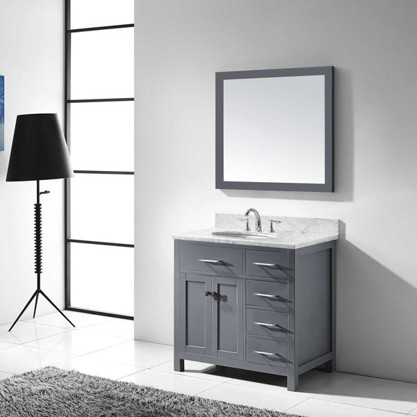 Virtu usa caroline parkway 48 inch single bathroom vanity for Virtu usa caroline 36 inch single sink bathroom vanity set