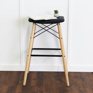 30-inch Retro Modern Faux Leather Barstool