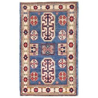 Herat Oriental Afghan Hand-knotted Kazak Wool Rug (2' x 3'3)