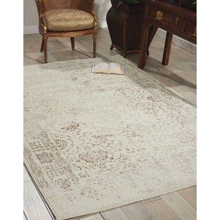 Michael Amini Glistening Nights Ivory Area Rug by Nourison (9'3 x 12'9)