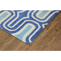 "Light Blue To Dark Blue with White Area Rug - 7'6"" x 10'6"""