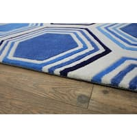 "Blue White Area Rug - 7'6"" x 10'6"""