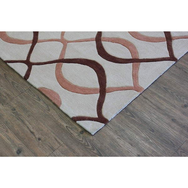 "Beige Brown Aztac Area Rug - 7'6"" x 10'6"""