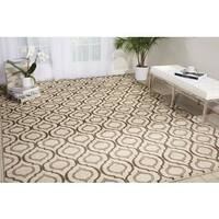 Michael Amini Glistening Nights Beige Area Rug by Nourison - 9'3 x 12'9