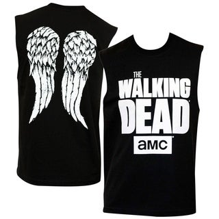 Men's Walking Dead Text Logo Muscle Tank