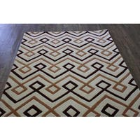 "Beige Brown Copper Color Area Rug Made In Tibet - 7'6"" x 10'6"""