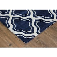 "Blue White Color Area Rug - 7'6"" x 10'6"""