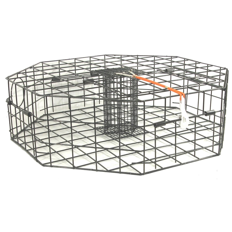Danielson 4-Door Metal Octagon Crab Trap (Black)