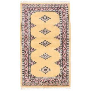 Herat Oriental Pakistani Hand-knotted Bokhara Wool Rug (2'5 x 4'3)