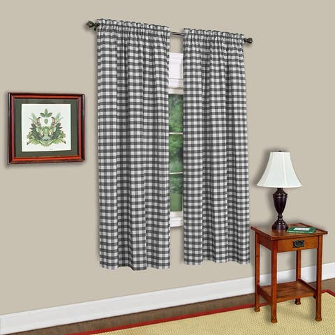Buffalo Check Assorted Cotton-blended Window Panel - 63x43