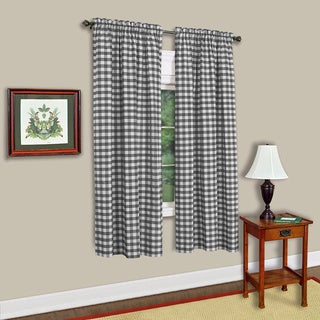 Buffalo Check Assorted Cotton-blended Window Panel - 42 x 63