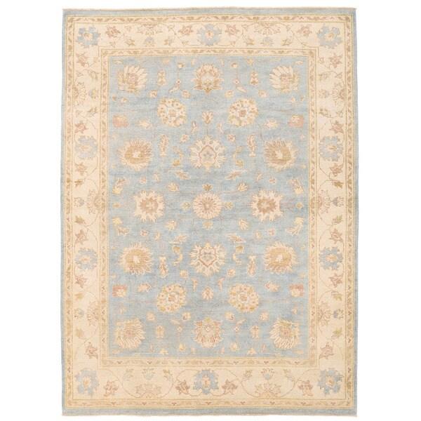 Handmade Herat Oriental Afghan Super Kazak Wool Rug (Afghanistan) - 5' x 6'11