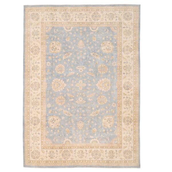 Handmade Herat Oriental Afghan Super Kazak Wool Rug (Afghanistan) - 9'10 x 14'1