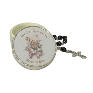 Elegance Confirmation Rosary Box with Rosary