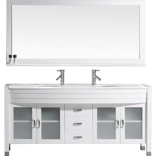 Virtu USA Ava 71-inch Double Bathroom Vanity Set