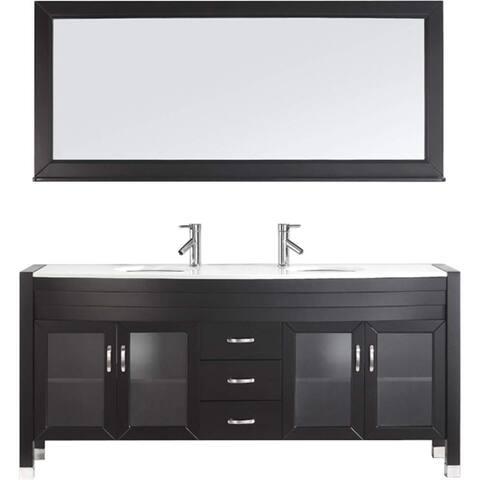 Ava 71-in Double Bathroom Vanity Set
