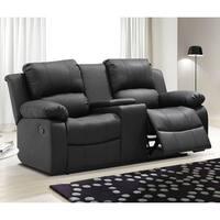 Madison Bonded Leather Modern Reclining Living Room Loveseat