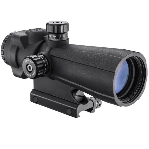 Barska Black 5 x 40 Millimeter AR-X Pro Prism Rifle Scope