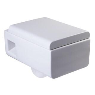 EAGO WD333 White Porcelain Dual-flush Wall-mountable Toilet