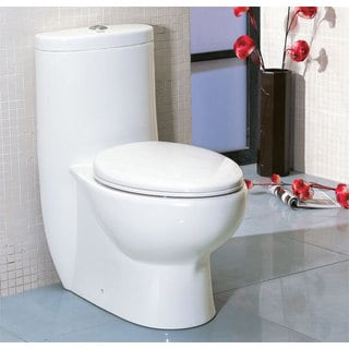 Eago TB309 White Porcelain Low Dual Flush One Piece Eco-friendly High Efficiency Toilet